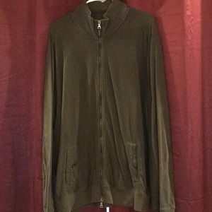 Olive Green POLO zip up jacket. LIKE NEW
